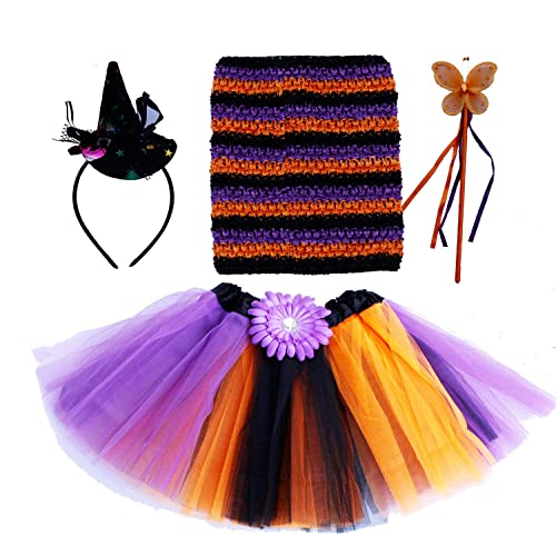 2a9df83108 Witch Princess Dress Up Costume Tutu Outfit Fancy Dress Halloween Party
