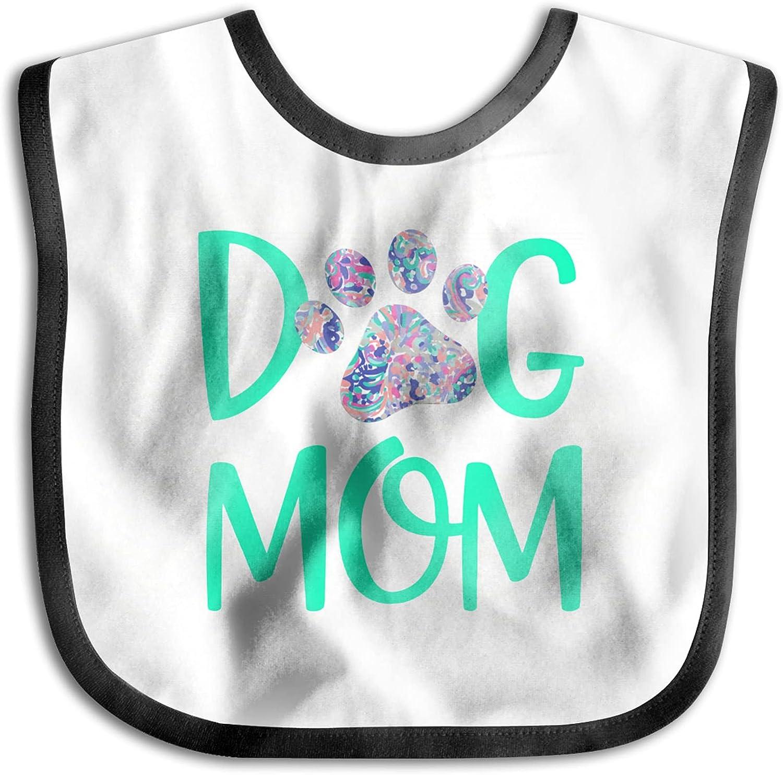 latest wholesale wobzfrok Dog Mom Baby Bib for Girls Natural Orignal Boys Cotton