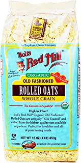 Bob's Red Mill Organic Oats Rolled Regular, 16 Ounce (Pack of 4)