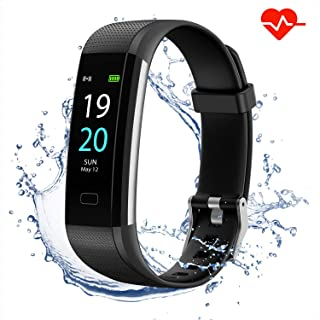 JUESTON Fitness Tracker with Blood Pressure Monitor Heart Rate Monitor,IP68 Waterproof Activity Tracker Blood Pressure Tracker Watch with Step Counter Sleep Tracker,Fitness Watchwaterproof Watch