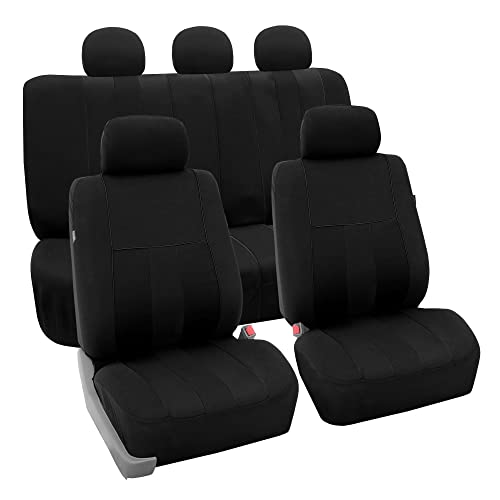 FH Group FB036BLACK115 Seat Cover (Airbag Compatible and Split Bench Black)
