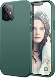 DTTO Silicone Case Compatible with iPhone 12 5.4 inch 2020, Full Body Protection Cover [Enhanced Camera and Screen Protection] for Apple iPhone 12, Midnight Green