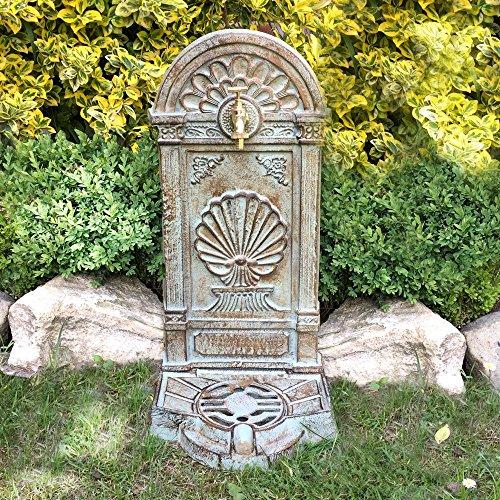 Antikas - Nostalgie Gartenbrunnen - Brunnen mit Wasserhahn - Stehbrunnen im Landhausstil