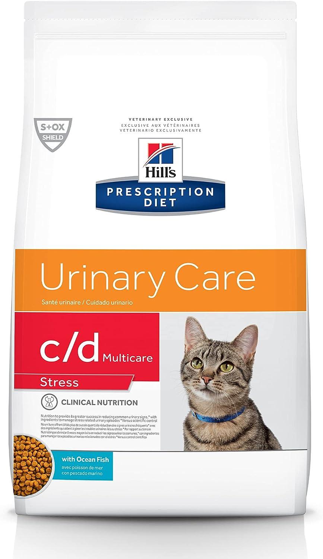 Hill's Prescription Diet c/d Multicare Stress Urinary Care Ocean Fish Flavor Dry Cat Food, Veterinary Diet, 8.5 lb. Bag