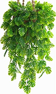 CATTREE Artificial Monstera Vines 2 Pack, Fake Ivy Tropical Leaf Jungle Leaves Plant Vine Greenery Artificial Hanging Plan...