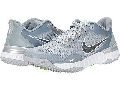 Nike Alpha Huarache ELT 3 Turf (Light Smoke Grey/Iron Grey/Smoke Grey/White) Shoes