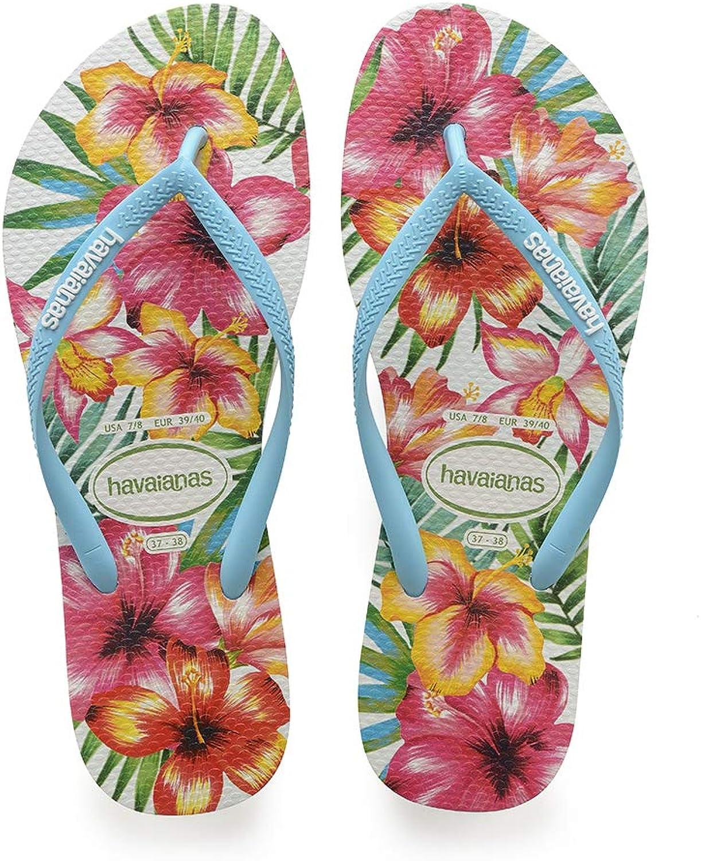 Havaianas Women's Slim Flip Flop Sandals, Hibisco