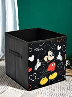 Kuber Industries Disney Mickey Mouse Print Non Woven Fabric Foldable Large Size Storage Cube Toy, Books, Shoes Storage Box...