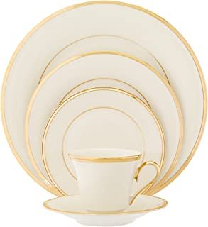 Lenox Eternal Gold-Banded Fine China 5-Piece Place Setting, Service for 1