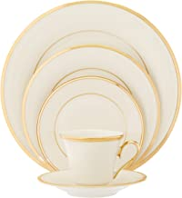 Lenox Eternal Gold-Banded Fine China 5-Piece Place Setting, Service for 1, Ivory - 140190600