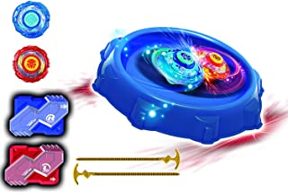 Infinity NADO Battle Stunt Area with 2 Metal NADO Spinning Toys: Super Whisker and Blade