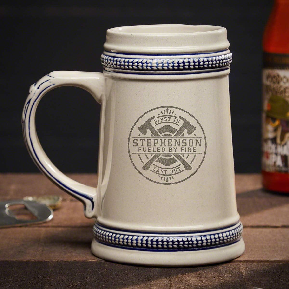 大幅にプライスダウン Firefighter Brotherhood Engraved Beer Personalized Produc Stein 感謝価格