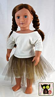Brown /& Gold Fancy Party Skirt for 18 Inch Dolls