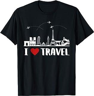 C'est Drôle, J'adore Voyager I Love Travel T-Shirt