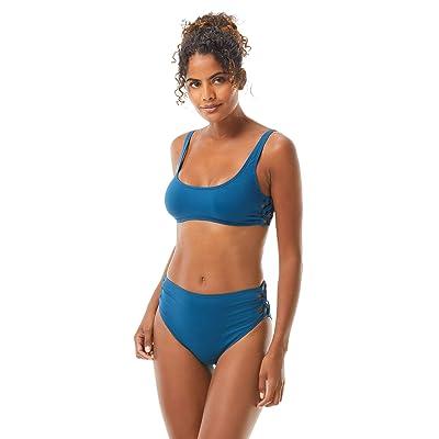 Vince Camuto Solid Side Lace Bikini Top