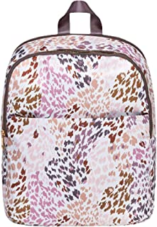 Leopard Print Recycled Polyester Packable Everyday Dome Zippered Backpack