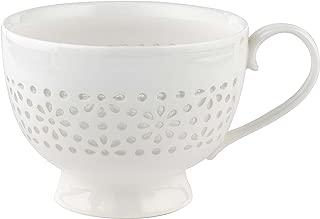 Cambridge CM05185 Charlotte Sandringham Lace Porcelain China Footed Mugs, Set of 2