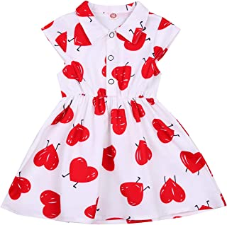 Baby Toddler Girl\u2019s Valentine\u2019s Dress and Bloomers My heart belongs to Daddy Size 18 Months