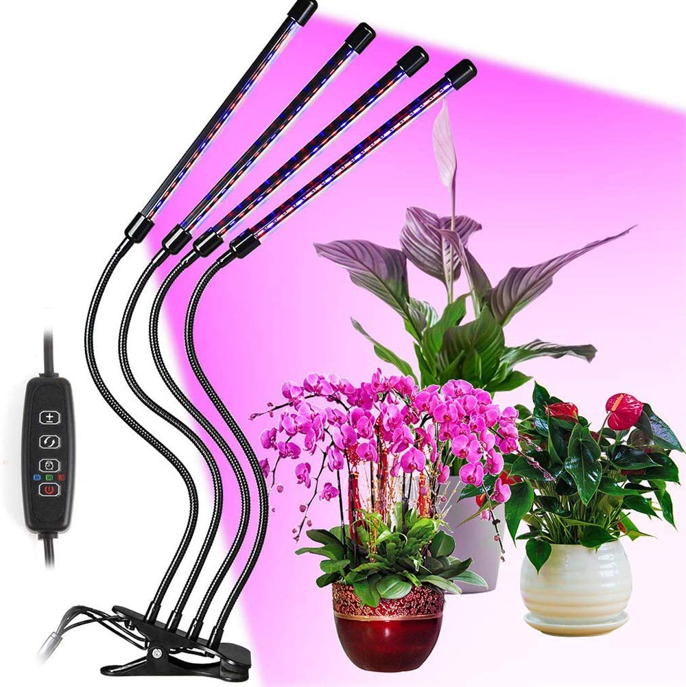 MIAOLEIE 80 LEDs Grow Lamp for Plant Import Heads 4 Long-awaited Plants Indoor
