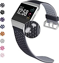 Jobese Compatible with Fitbit Ionic Band, Breathable Soft Silicone Sports Replacement Accessories Compatible with Fitbit Ionic Watch Bands for Men Women