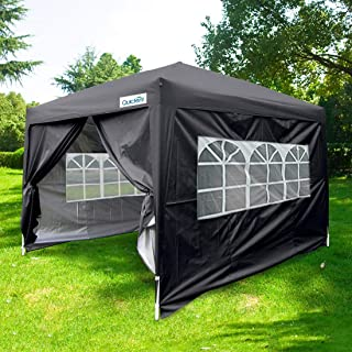 Quictent Silvox 10x10 EZ Pop Up Canopy Party Tent Instant Gazebo Waterproof with 4 Sides & Roller Bag -8 Colors