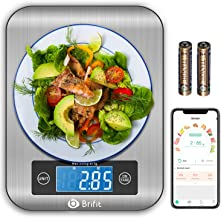 Brifit Smart Kitchen Scale, Multifunction Nutritional Scale with Nutritional Calculator and Timer, Food Scale, Coffee Scal...