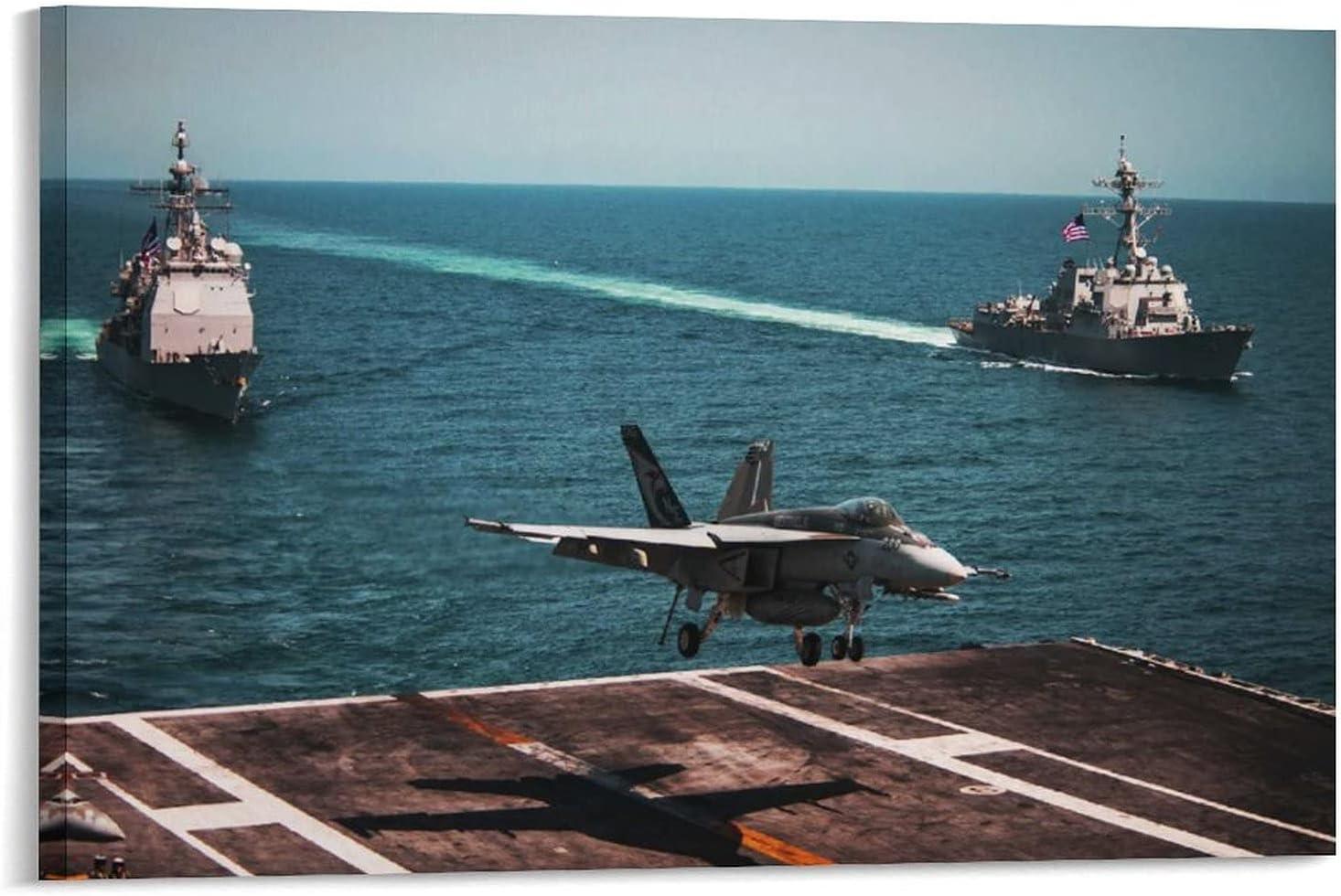 FA-18E Attack Aircraft Outlet SALE Landed on 70 Li9 Art unisex Canvas CVN