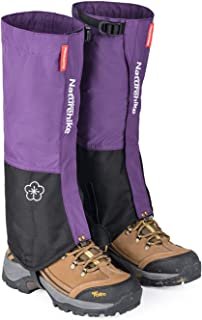 Outdoor Hiking Snow Leg Gaiters for Men Women - Naturehike, Waterproof Lightweight Breathable Compact Shoes Boots Cover for Research Skiing Snowboarding Walking Climbing Hunting (Light Purple - M)