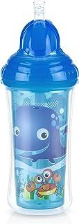 Nuby Flip It Polypropylene Beaker with Hygienic Closure/Anti-Drip Straw 270ml 12+ Months - Random Colour