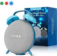 LANMU Alarm Clock Stand for Google Home Mini,Retro Alarm Clock Case Mount Accessories (Blue)