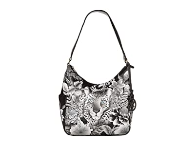 Anuschka Handbags 382 Classic Hobo With Side Pockets (Cleopatra