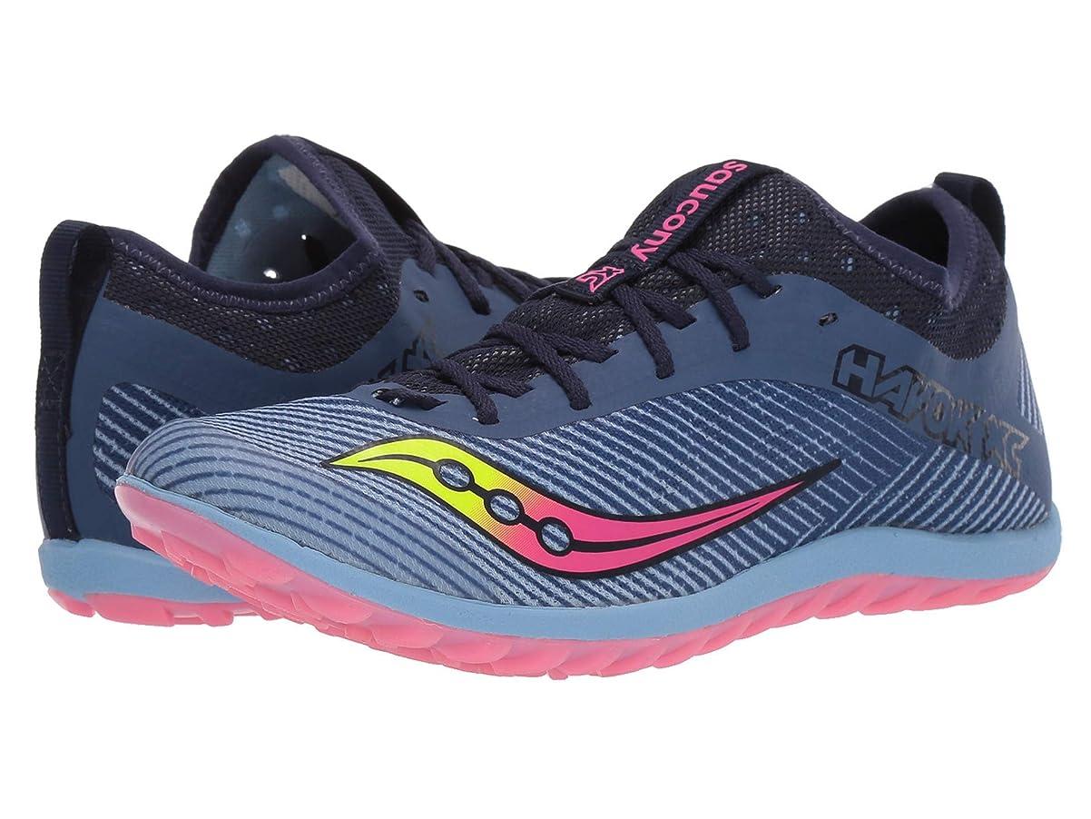 [サッカニー] レディースランニングシューズ?スニーカー?靴 Havok XC2 Flat Blue/Citron/Vizi Pink 8.5 (25cm) B [並行輸入品]