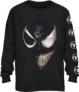 Marvel Venom Half Spider-Man Spiderman Avengers Villain Comic Book Adult Mens Graphic Long Sleeve T-Shirt Apparel