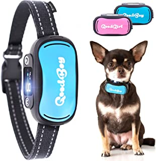GoodBoy Small and Humane Dog Bark Collar for Little, Medium and Large Breeds - Sound or Vibration Modes Control Unwanted Barking - Rechargeable No Bark Training Device - New 2019 Sensor & Chip Upgrade