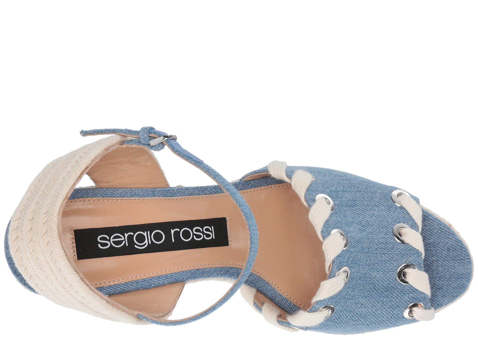 Sergio Rossi Var Blue Fabric A84080 mfn540 Denim rr7wxg