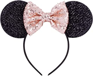 Champagne gold Minnie Sequin Ears Mickey Sequin Ears Adult Minnie Ears Sparkly Minnie Ears,Minnie headband Mouse Ears Headbands Butterfly Glitter Hairband