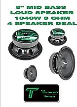 (4) Timpano TPT-MD6 Full Range Mid Bass Loud Speaker 6