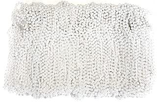 The Mardi Gras Krewe Mardi Gras Beads 33 inch 7mm, 10 Dozen, 120 Pieces (White Pearl)