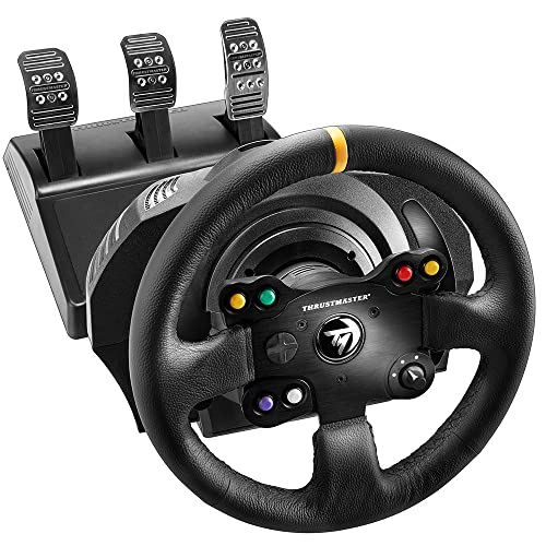 Thrustmaster TX Racing Wheel Leather Edition - Le Volant (Simulateur de Course) à Retour de Force Next - Gen pour Xbox One et PC
