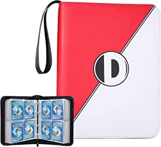 Binder for Pokemon Cards with Sleeves, Card Binder Holder Book Compatible with Pokémon Trading Cards, Holds Up to 400 Card...