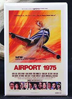 Airport 1975 Movie Poster - Refrigerator Magnet.