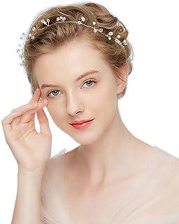 01bd8b5af5623 Amazon.com: womens lace rhinestone crystal headpiece wedding special ...