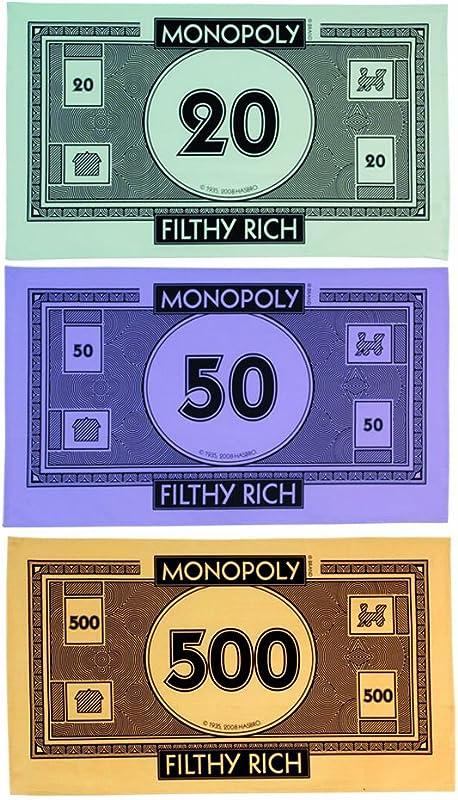 Gift Republic Monopoly Money Tea Towel Pack Of 3