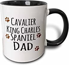 3dRose 153882_4 Cavalier King Charles Spaniel Dog Dad Mug, 11 oz, Black