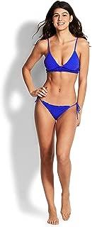 Seafolly Women's El Dorado Bralette Bikini Top, Blue Cobalt Ditsy