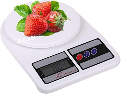 RYLAN Electronic Digital Kitchen Scale Kitchen Scale Digital Multipurpose Weight Machines for Kitchen Weight Machine Weight Scale Kitchen Kitchen Weight Machine Kitchen Weighing Scale Digital