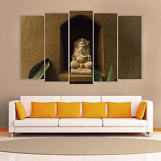 Generic Multiple Frames Ganesh Art Wall Painting (150cm X 76cm)