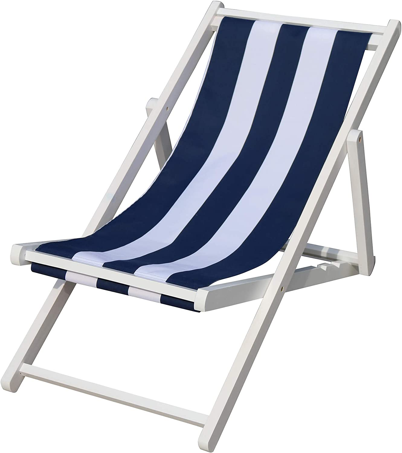 Broad Blue Attention brand Stripe populus Wood Sling Chair Indoor Outdoor Poolsi Popular brand in the world
