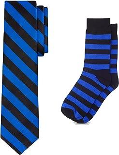 Matching College Stripe Dress Socks and Tie