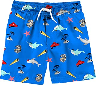 88fc82fe6b Funnycokid Boys Swim Trunks Quick Dry Kids Water Resistant Beach Board  Shorts 4-12 Years